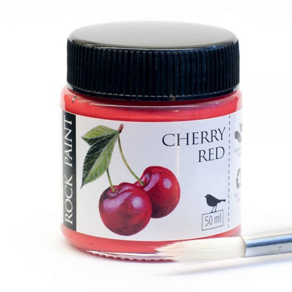 cherry red acrylic craft paint