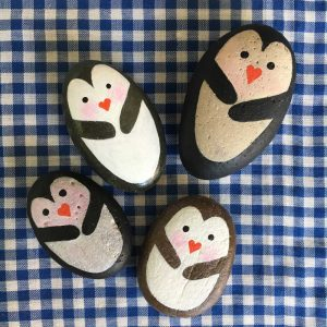 Painted penguin rocks tutorial