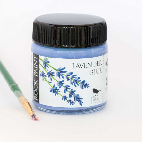 Lavender Blue craft paint specially formulated to paint onto pebbles, stones and rocks. it can also be used as a high quality paint for wood and crafts.