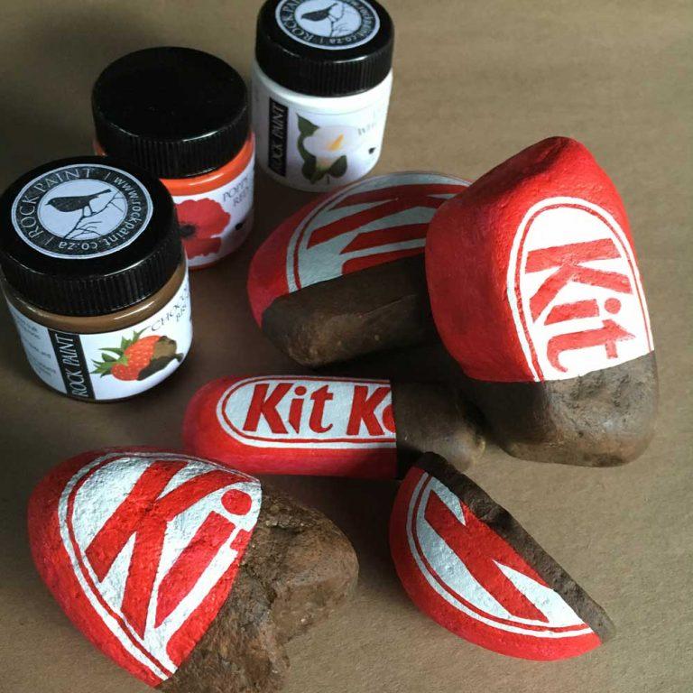 Painted Kit Kat rock tutorial step 6