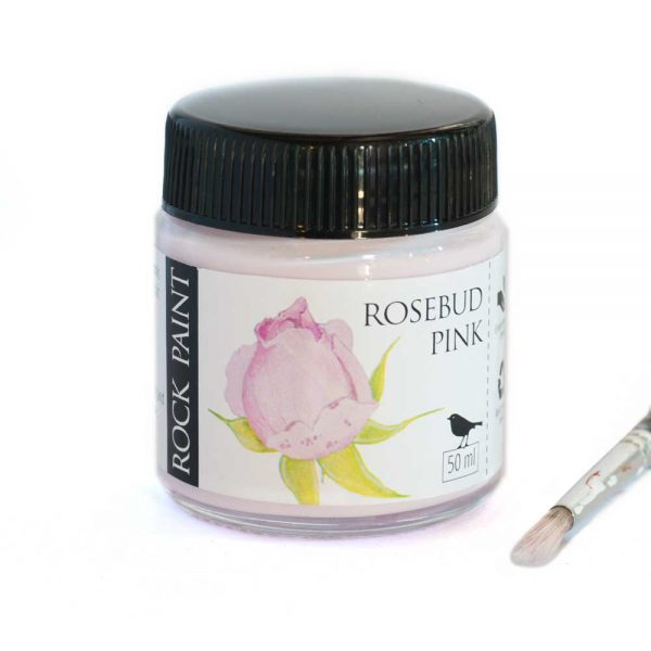 Rosebud pink rock art paint for painting on rocks, stones and various art projects
