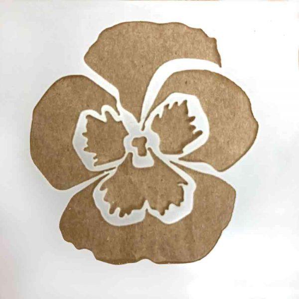 pansy stencil