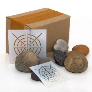 Box of Rocks and Mandala Stencils Combo