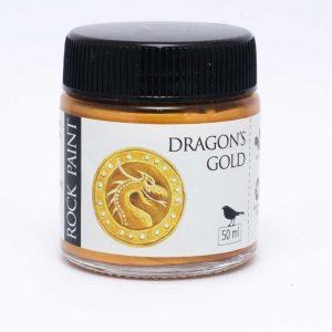 Rock Paint Dragon's Gold metallic paint
