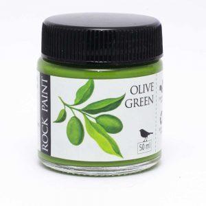 Rock Paint Olive Green paint