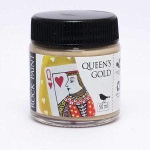 Rock Paint Queen's Gold Metallic gold paint