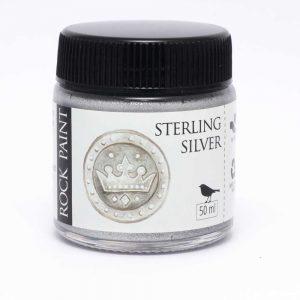 Rockpaint Sterling Silver metallic silver paint