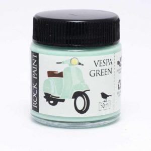 Rock Paint Vespa green paint